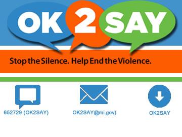 OK 2 Say - Stop the silence. Help end the violence.