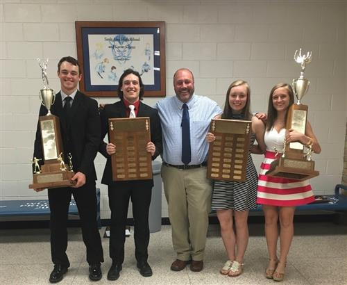 2016 Top Athletes with Mr. Fortin